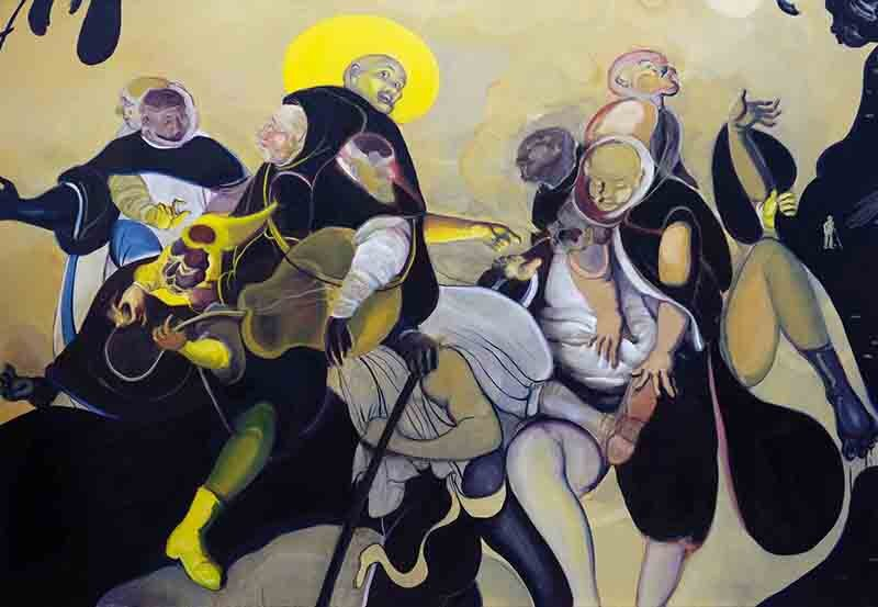 Manifestations at noon  (2017) Oil on canvas, 240 x 165cm