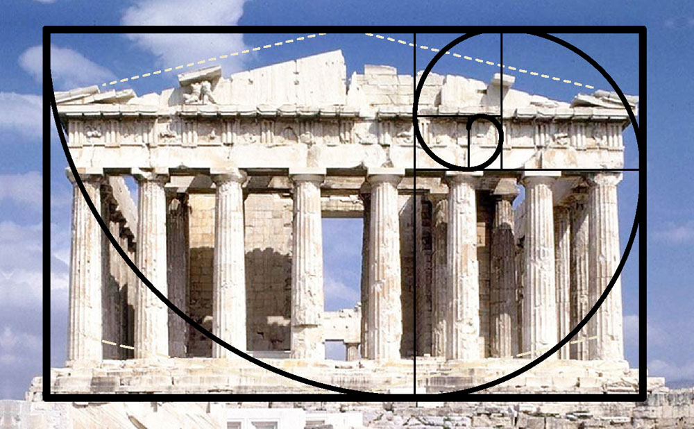 Greek Parthenon and the Golden Rectangle