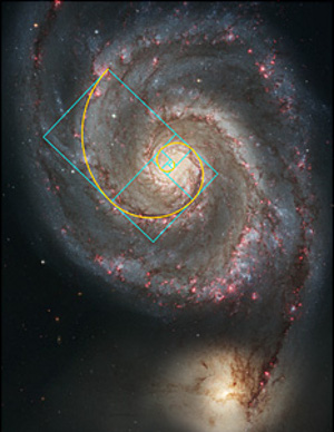 Golden Spiral in spiral galaxies