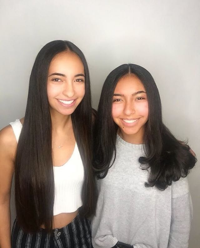 🎉Happy Birthday🎉 @anniecoury  @marina.coury 💕Beautiful Blowouts by Vī @globalbeautymaven using  @ensotools #hairperfectingserum - - - #hbd #17 #twins #ensotools #hair #redcarpet #hollywood #hairstyle #queens #slay #sisters #haircare #blowouts #longhair #longhairstyles #curls #waves #smile #winter #holidays #bts #beauty #highschool #culvercity #losangeles #beautiful