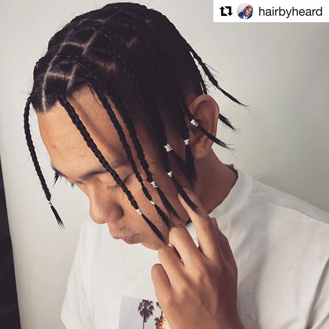 #Repost Fresh box braids by @hairbyheard - peep the CLEAN  box parts, ◾️◾️ no messy or unfinished work here! 🙅🏾‍♂️🙅🏾‍♂️ using @wahlpro . . . . . . . . . . . .  #hairbyheard #lahairstylist #braids #boxbraids #menwithbraids #hairstyles #lilyachty #insta #fashion #tbt #braiding #longhair #losangeles #westla #lmu #usc #ucla #venice #longhairstyles #love #natural #friday #tgif