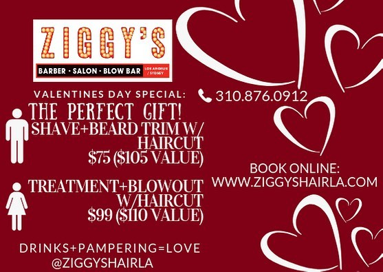 Have a drink + Get Pampered🥰 Book online or Call 3108760912 #ziggyshairla - - - #hair #love #tbt #wcw #valentine #galentine #valentinesday #loves #deals #specials #drinks #la #barber #complimentary #culvercity #beauty #losangeles #westla #usc #ucla #lmu #salon #celebrate #hollywood #venice