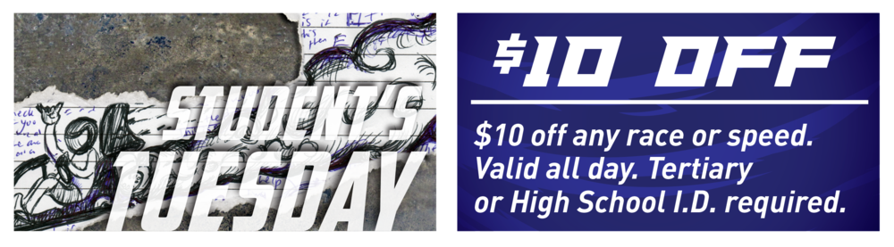 Are you at High School, Uni or Tec? Well bring in your Student I.D and you can grab this Tuesday deal!