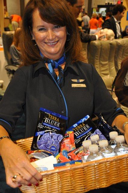 nice lady on plane