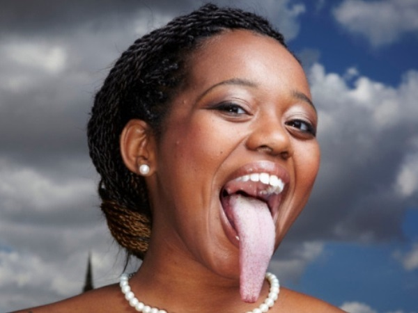 human long tongue