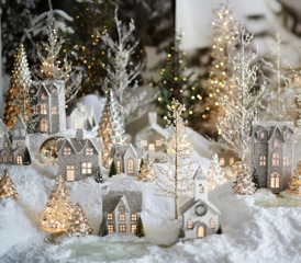 Pottery Barn German Glitter Village