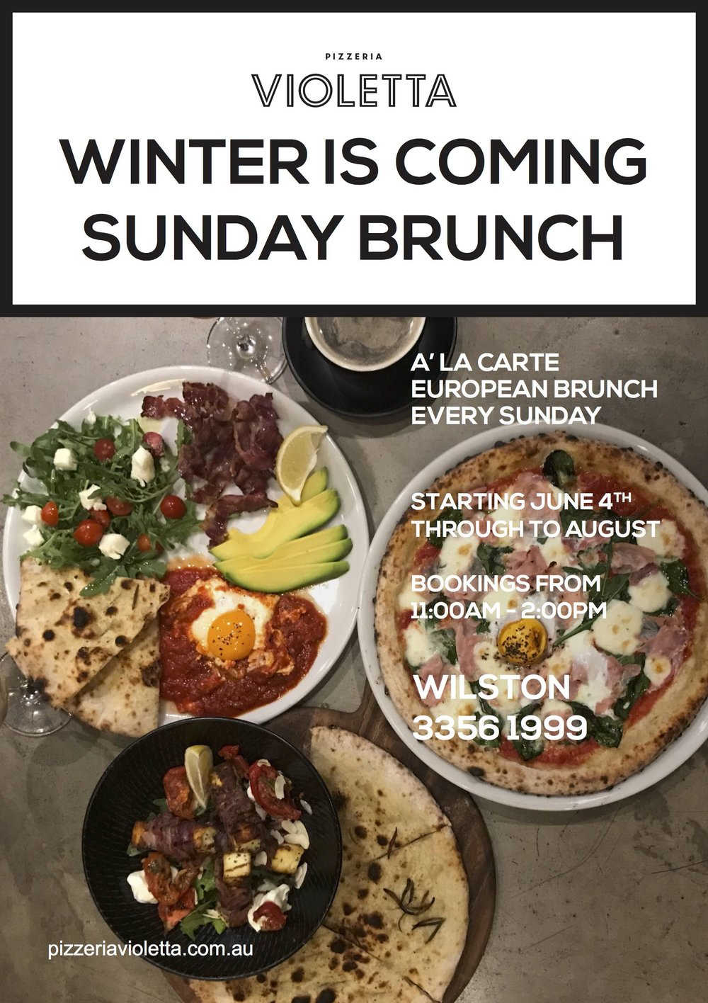 Winter is coming... Starting June 4th, Join us for Sunday Brunch..