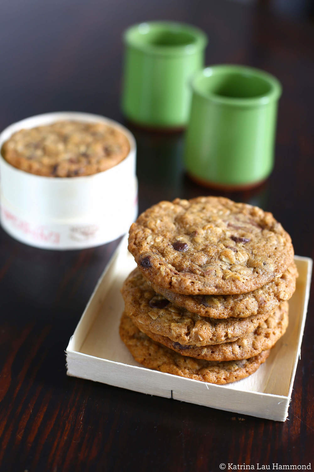 Oat choc chip cookies