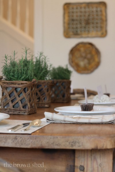 Thanksgiving table setting | thebrownshed.com