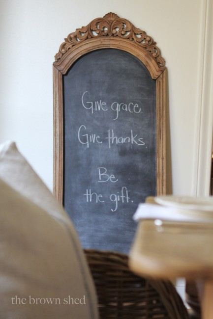 Thanksgiving Chalkboard | thebrownshed.com