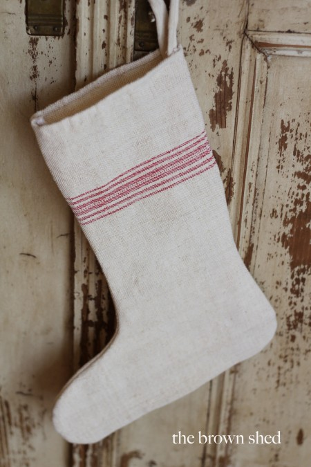 grain sack stocking | thebrownshed.com