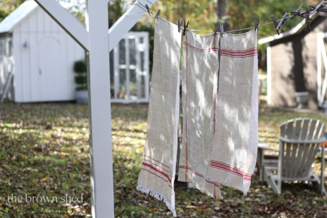 vintage flax towels | thebrownshed.com