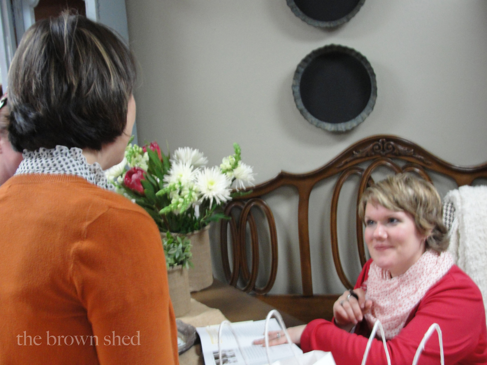 book signing with Miss Mustard Seed |  thebrownshed.com