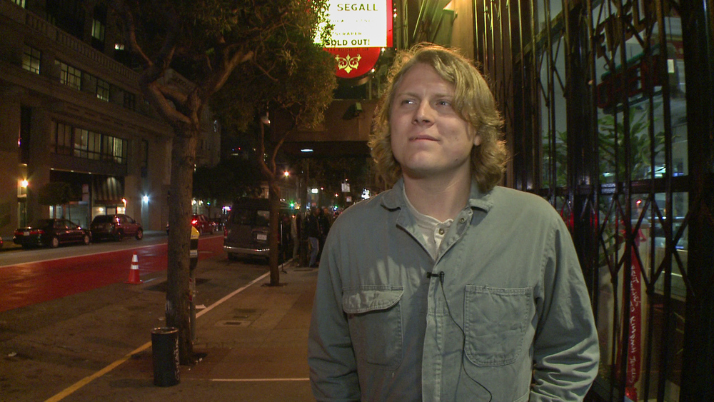 Ty Segall, shortly before his sold out show at the Great American in SF.