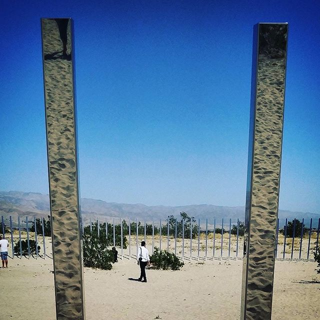 I found the Phantasm portal. It's part of the DesertX exhibit in the Coachella Valley. #desertx #phantasm
