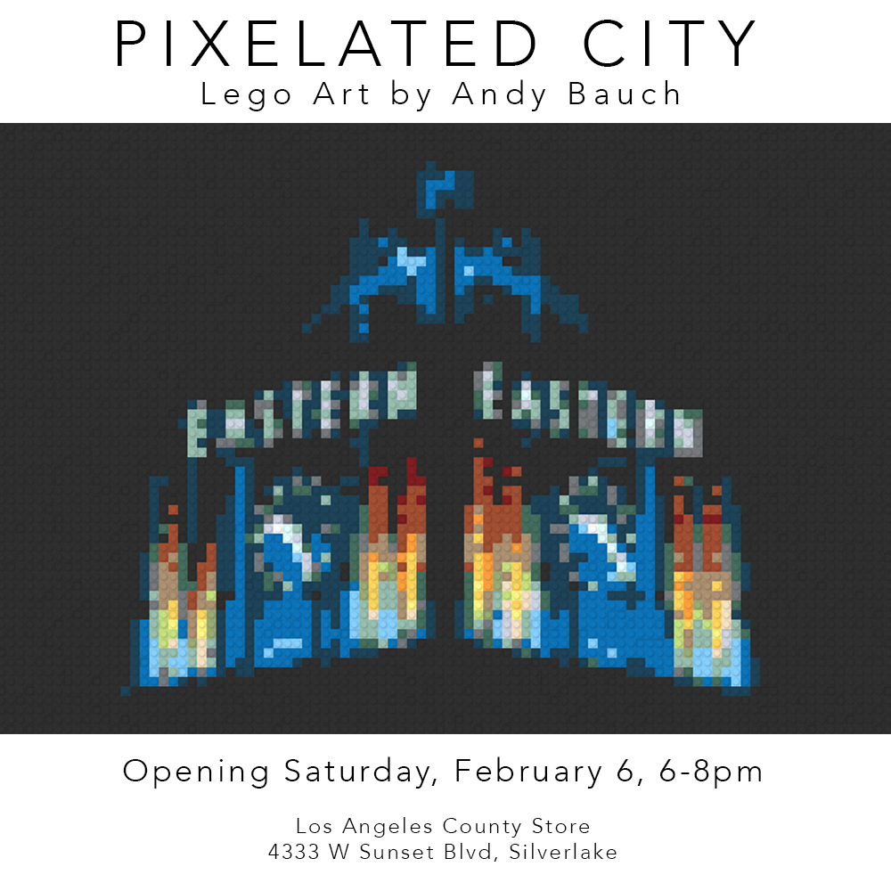 Pixelated City show at Los Angeles County Store