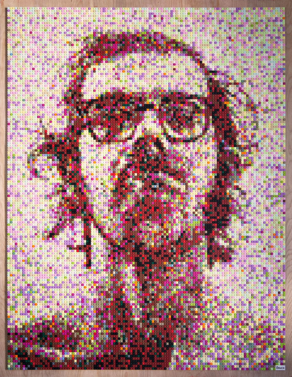 The completed piece, an interpretation of Big Self-Portrait