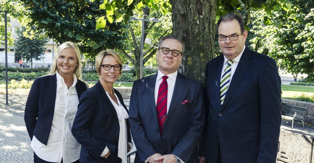 Från vänster: Filippa Nelin, Isabella Hugosson, Carl Johan Rundquist, Magnus Dahlgren