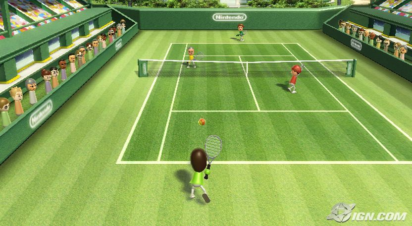 Wii Sports Tennis. Good, but its no Super Tennis!