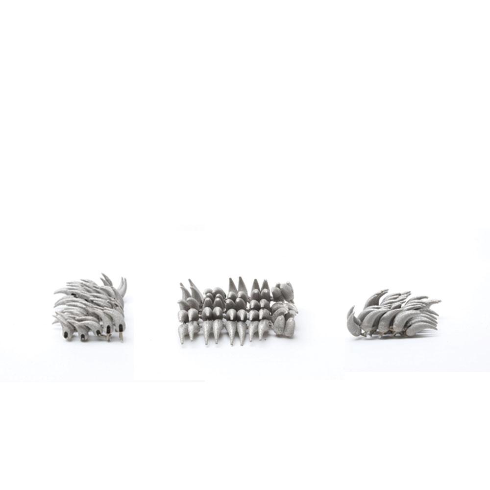 tactile porcupine in titanium