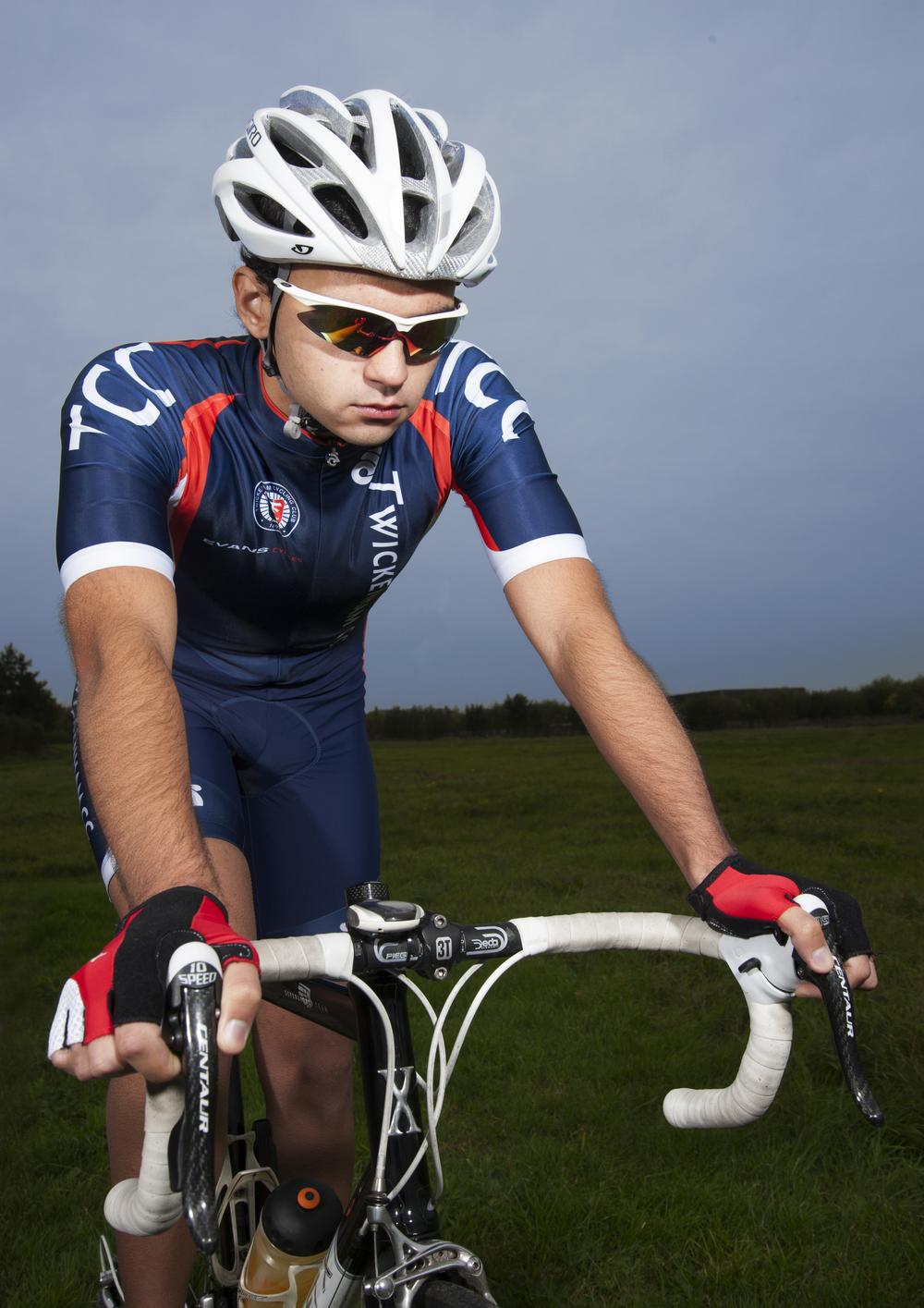 Gavin Portrait on Bike.