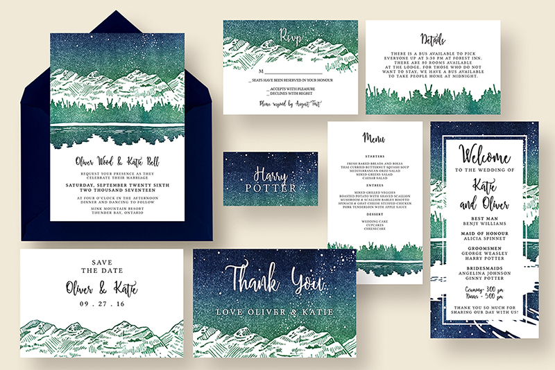 Awesome Affordable Wedding Invitations Knotted Design