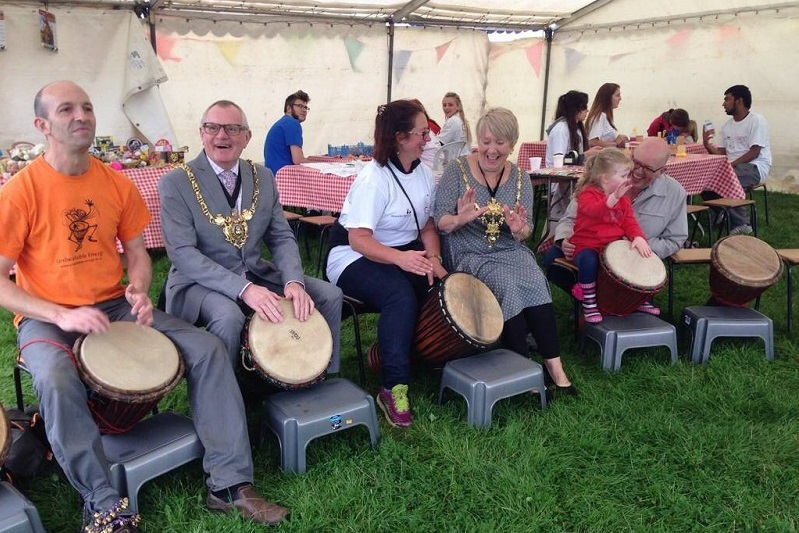Family friendly drumming workshops.