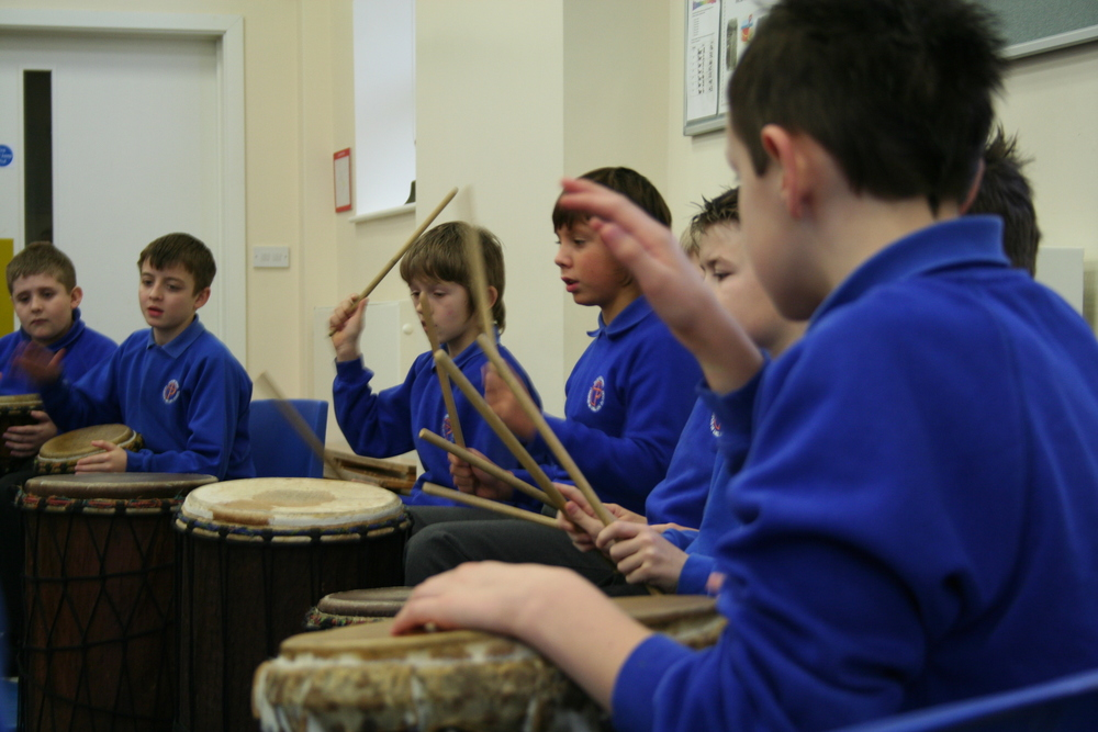 African drumming workshops for Primary Schools