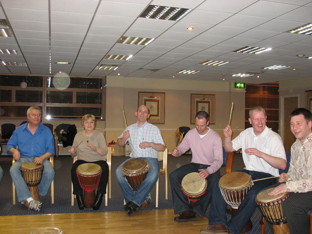 Corporate Drumming Events for Christmas Parties