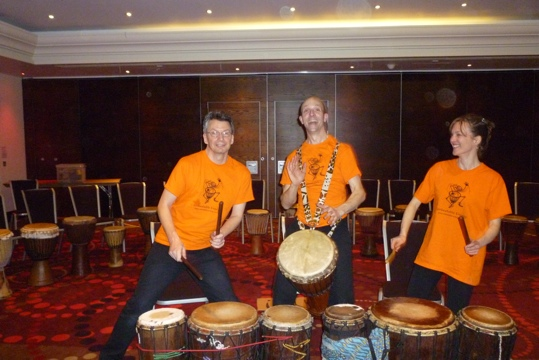 Corporate Drumming Event at London Marriott Twickenham