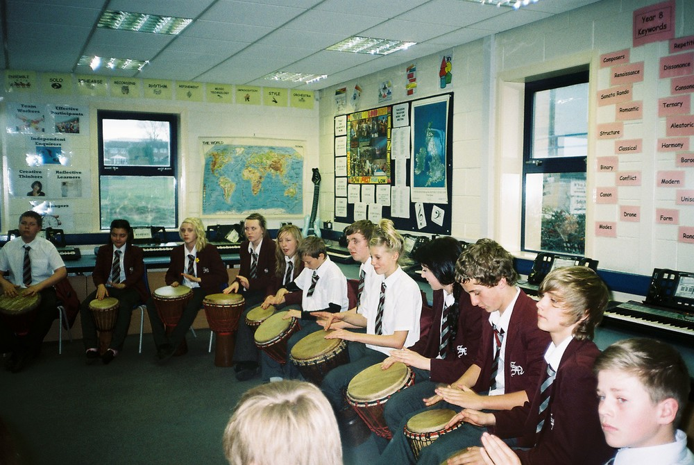 School African Drumming at St. Michael's School in South Yorkshire