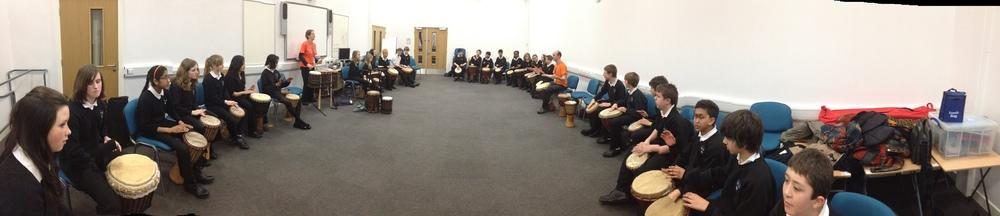 African Drumming workshops for Schools in Leeds