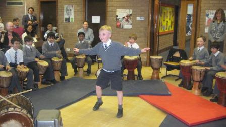 African Drumming and African Dance workshop at Nottingham High School, Nottinghamshire