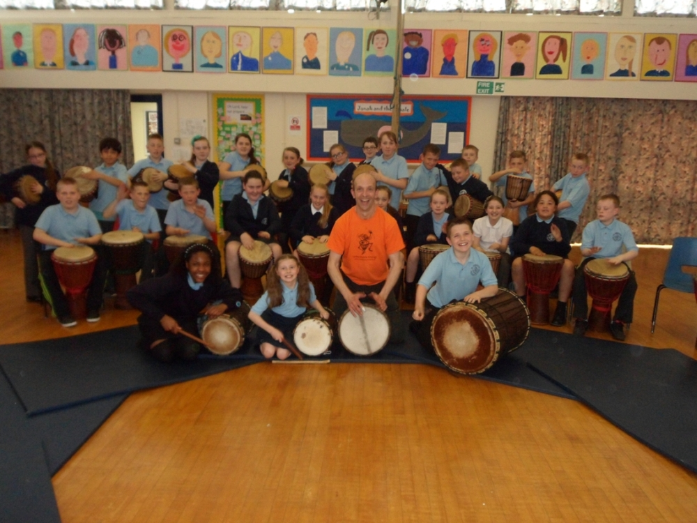 West African Djembe drumming in Salford and Manchester