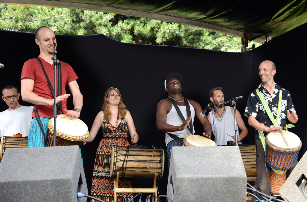 African Drumming Performance at Nottingham Pride Community Stage