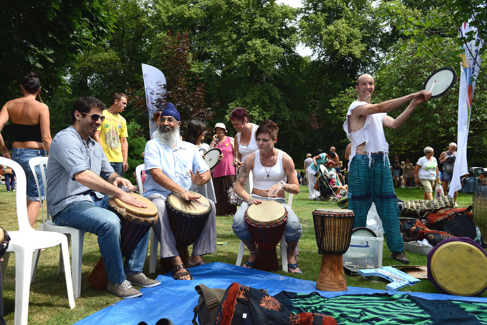 African Drumming Workshops for Festivals - Nottingham Pride 2013