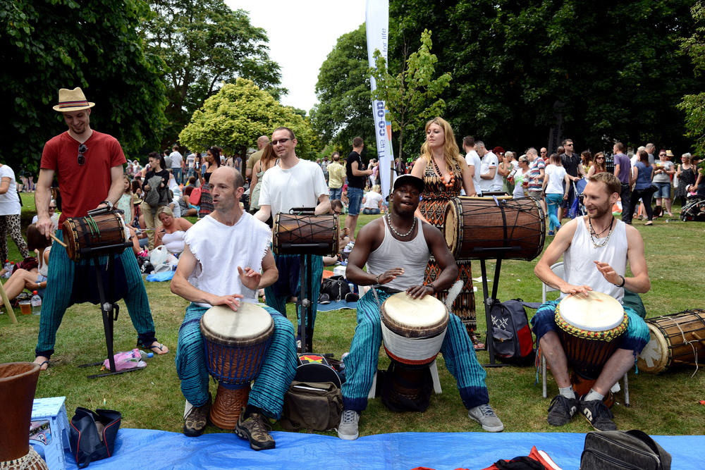 African Drumming Performance at Nottingham Pride 2013