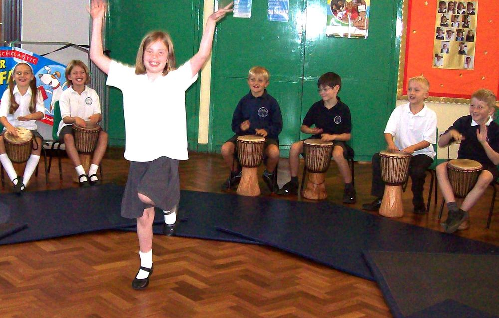The final school performance - dance brings the African Drums to life!