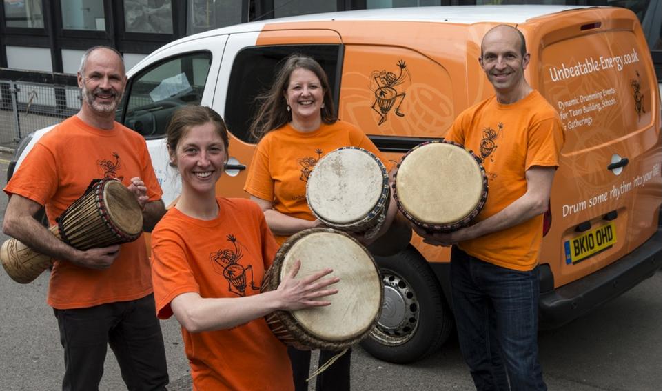 Unbeatable Energy African drumming team