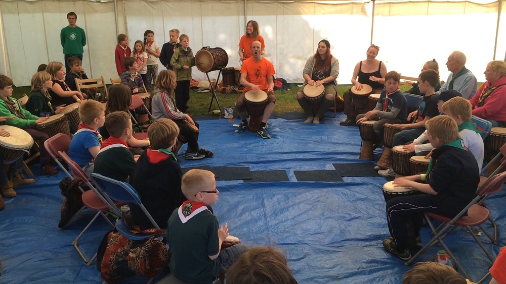 African Drumming Performance at Walesby Forest Scout Camp, Nottinghamshire