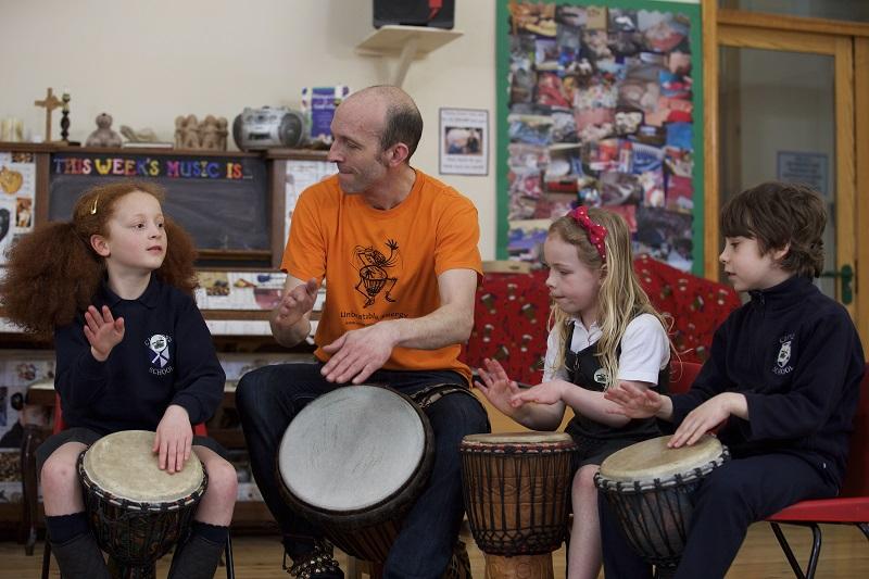 Children taking part in school workshops