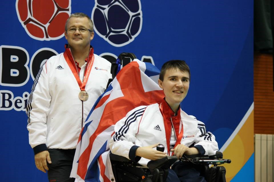 Jacob and Dad Mike at the 2014 World Championships