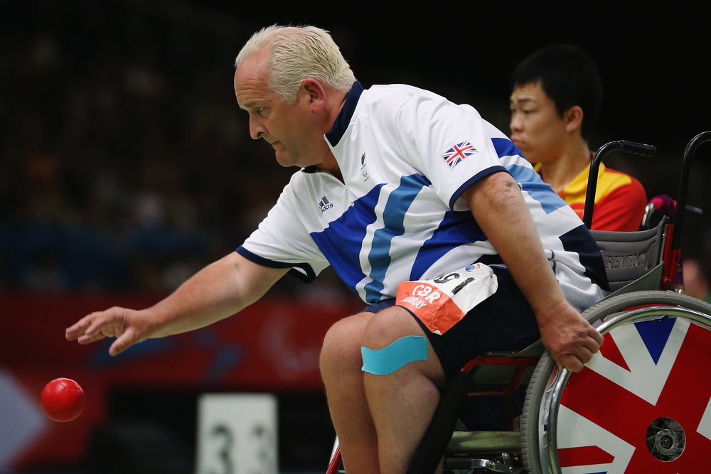 Nigel in action at the 2012 Paralympic Games
