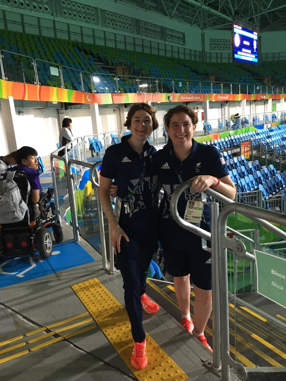Dawn Ibrahim (L) and Fran Lace (R) at the Paralymic Games in Rio