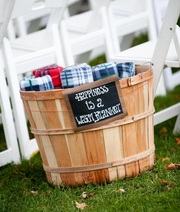 Shindig created a variety of signage including chalkboard signs for flannel blankets.