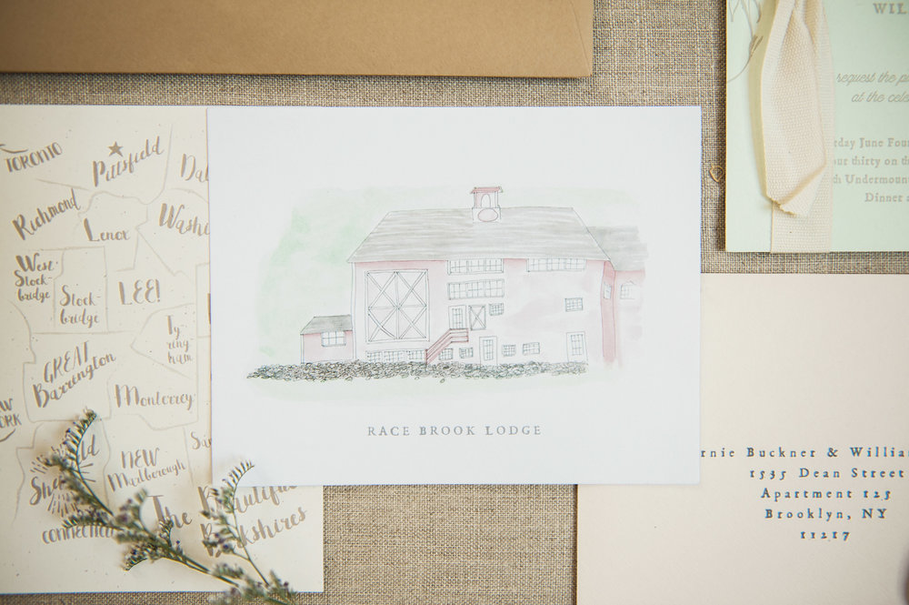 We created a simple little doodle of the Race Brook Lodge.