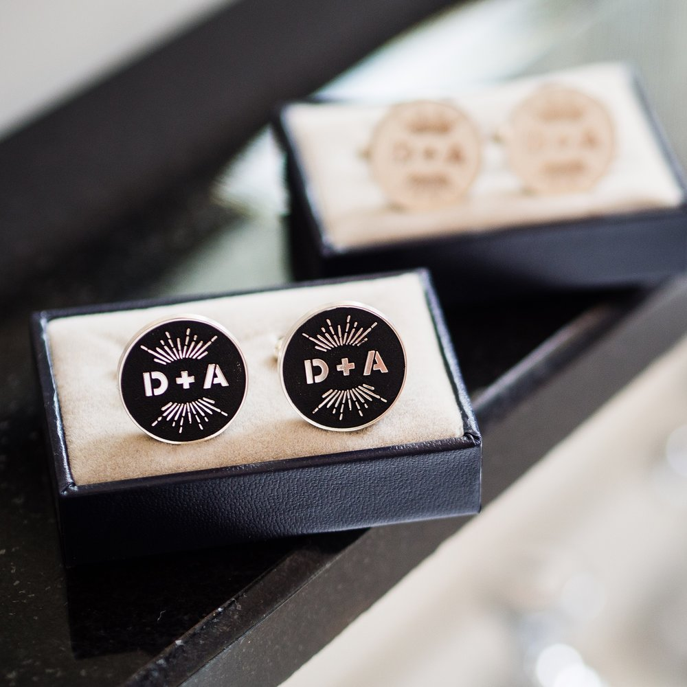 We were super excited to learn that Daryl and Amir had cufflinks made using our D+A logo!!