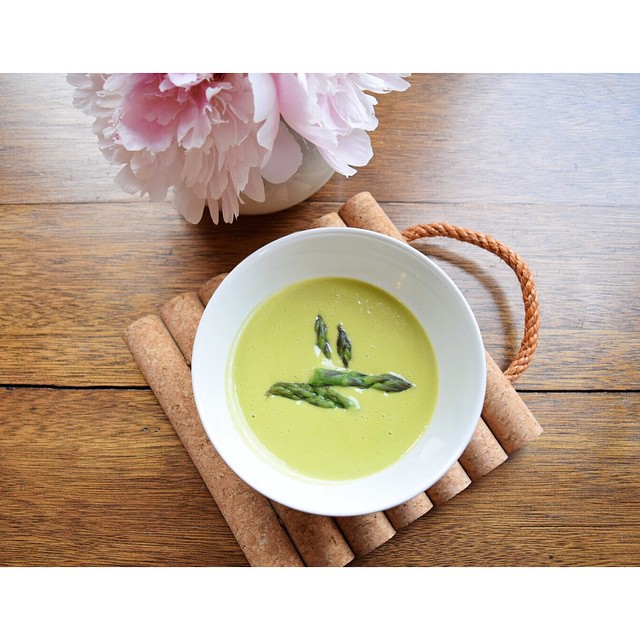 Asparagus soup for days. Recipe to come soon. While on contract it's hard to get posting more than the pics! #asparagus #soup #farmersmarket #peonies #homecooking #eatlocal #seasonal #vegetables #brooklyn #nyc #feedfeed #BringOnSpring #organic