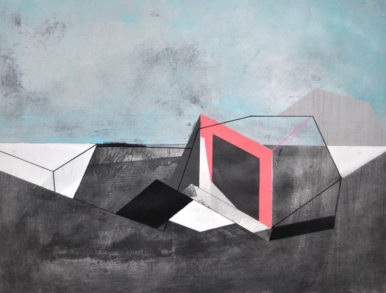 "KAMP | Acrylic on paper | 18"" x 24"" | 2015"