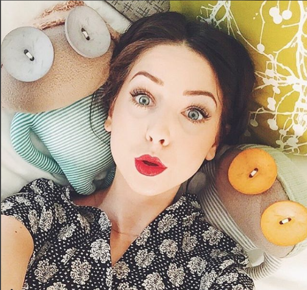 Blogger and Youtuber Zoe Snugg's selfie with Ruby Ruth's own Malcolm and Rita.